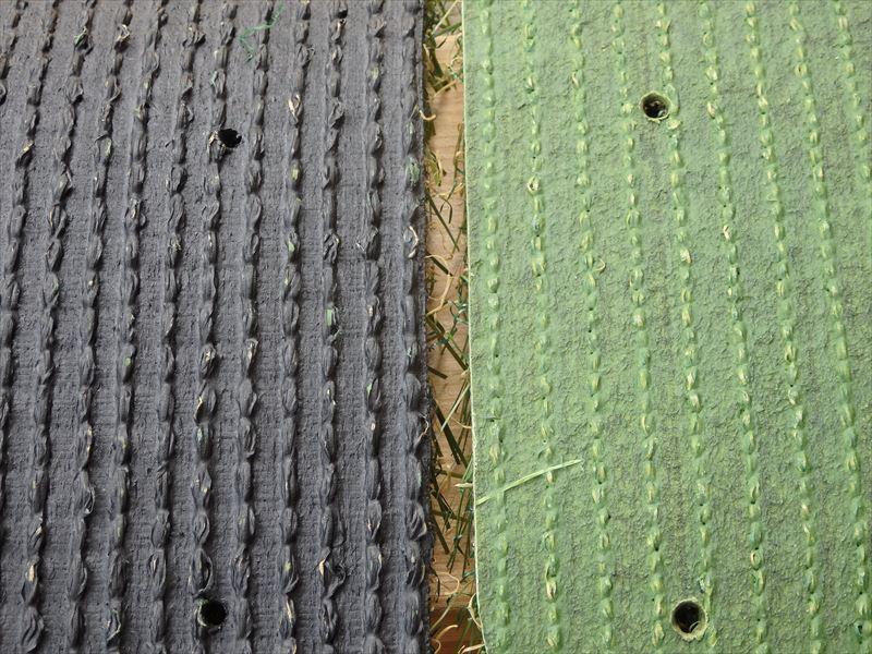 メーカーによって違いがあるプラスティック繊維などを使った人工芝の下地